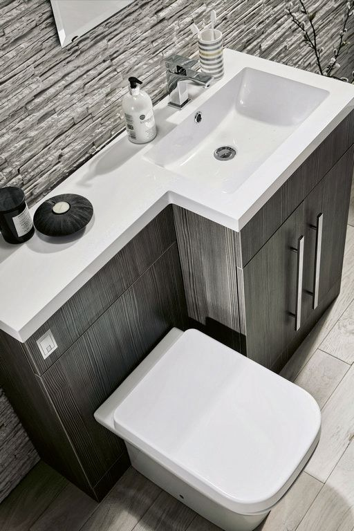 Lima 900 l shaped avola bathroom combination unit with basin for Bathroom combination vanity units