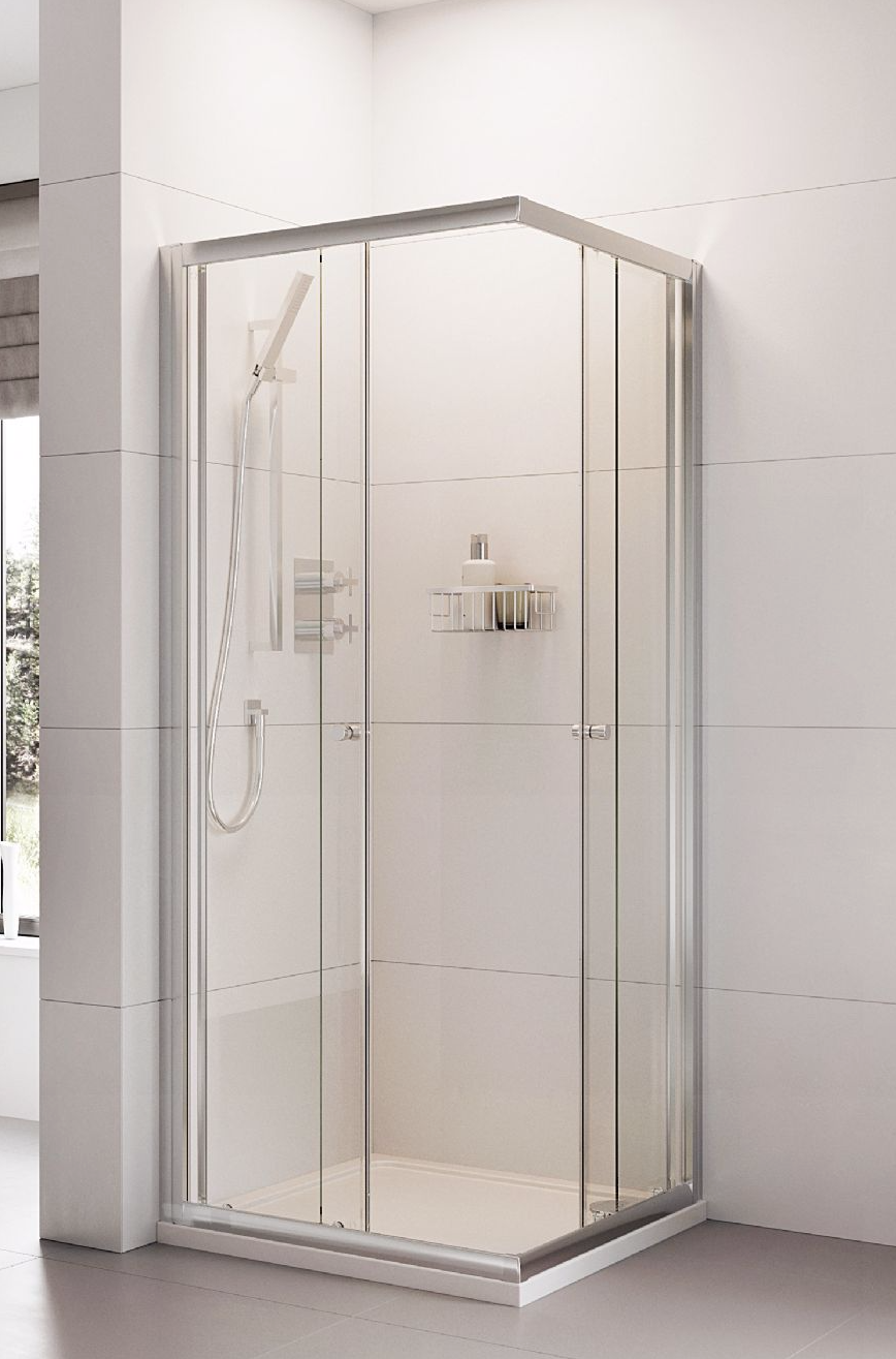 Haven 700 x 700 Twin Door Corner Entry Shower Enclosure H3C7CS