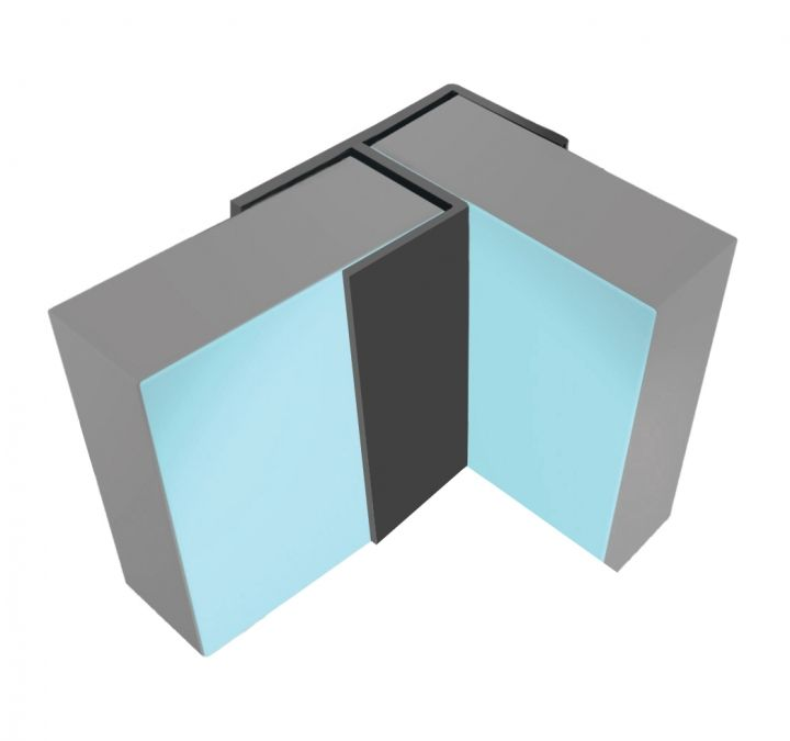 Multipanel Aluminium Flush Corner Type 100