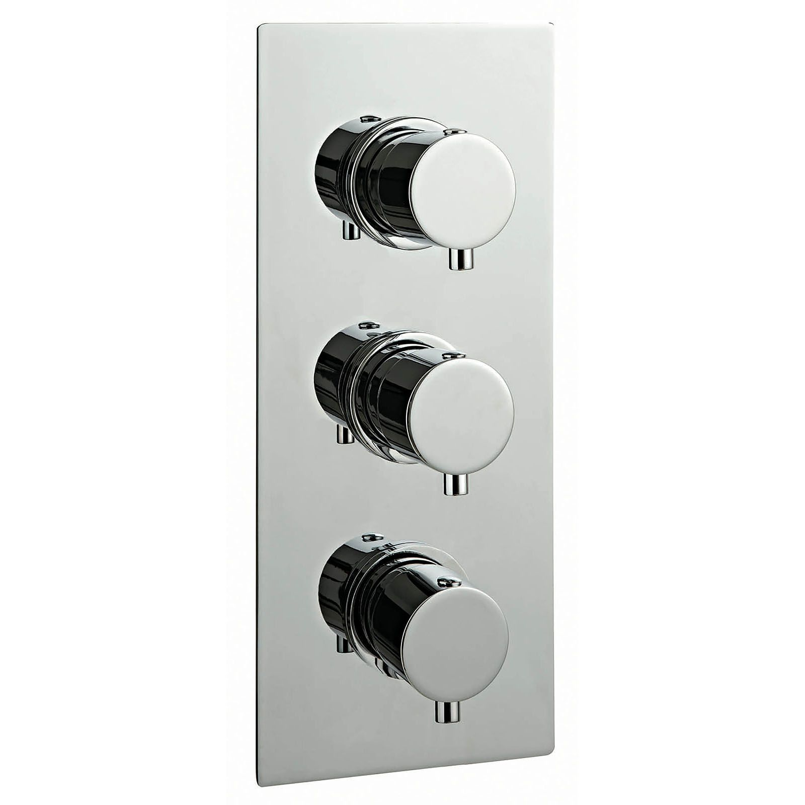 Phoenix Concealed Round Triple Thermostatic Shower Valve With 3 Way ...