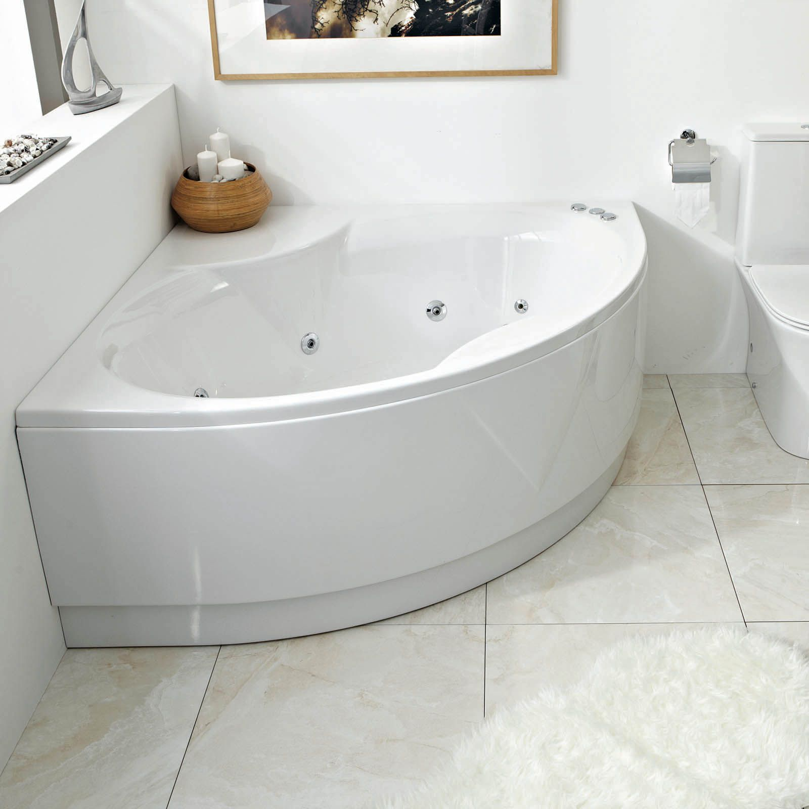 Phoenix Monaco Corner Bath With Panel 1500mm X 1500mm