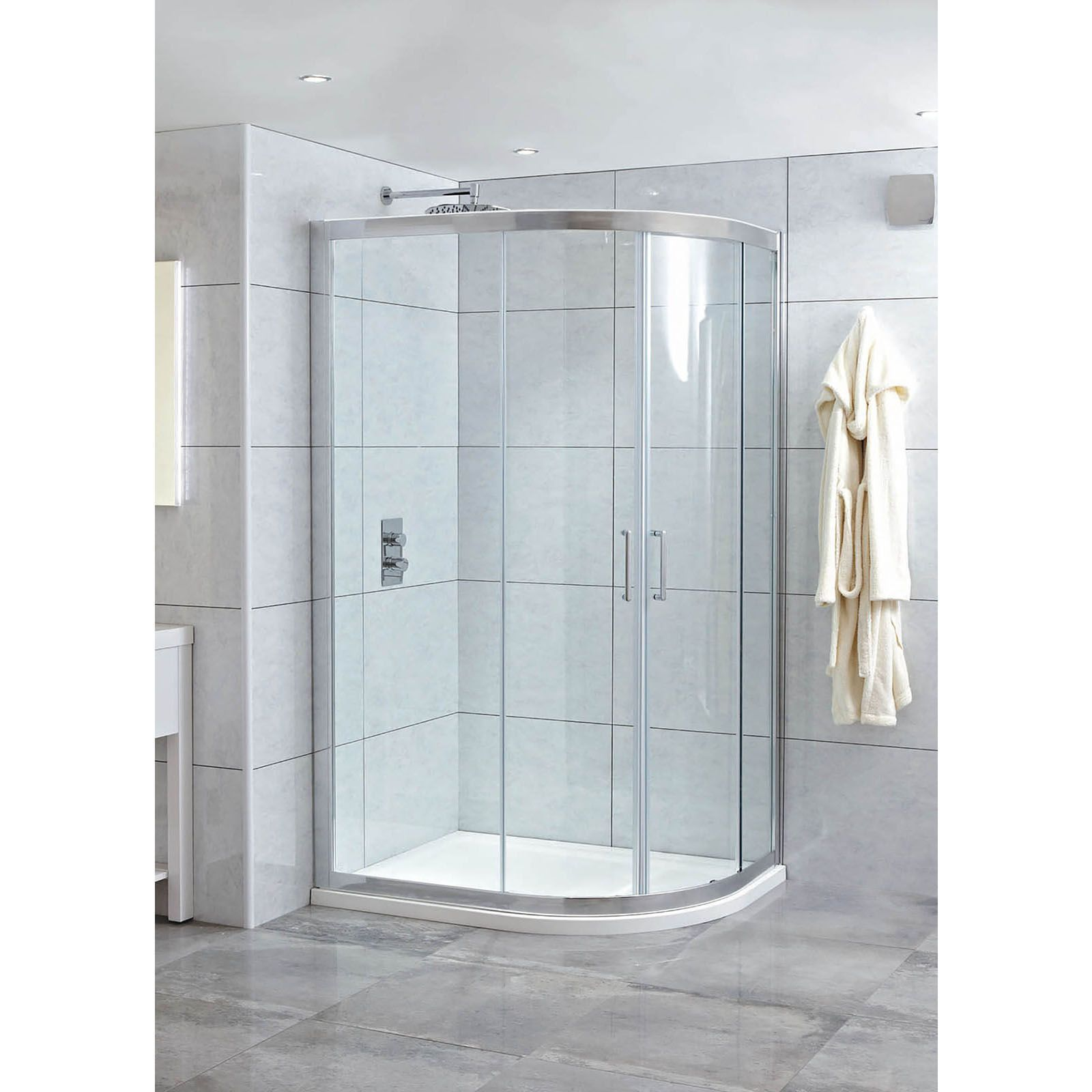 Phoenix Spirit 1000 X 800 8mm Glass Twin Door Offset