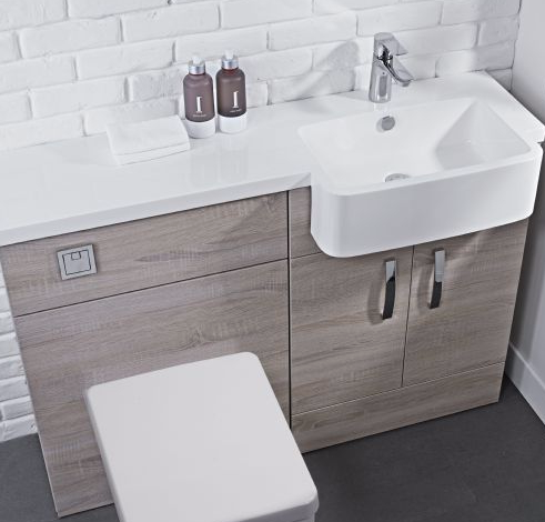 Tavistock courier 1200mm rh combination vanity unit 4 - Bathroom combination vanity units ...
